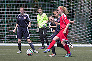- Forfar Farmington (red) v Raith Rovers (dark blue) - Under 15 East Region Girls League Cup Final at University Grounds, Riverside<br /> <br />  - &copy; David Young - www.davidyoungphoto.co.uk - email: davidyoungphoto@gmail.com