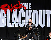 Gavin Butler of The Blackout performs live on the Main Stage during day one of Reading Festival 2011 on August 26, 2011 in Reading, England.  (Photo by Simone Joyner)