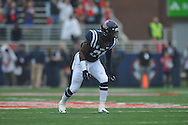 Mississippi linebacker Keith Lewis (24) vs. Troy at Vaught-Hemingway Stadium in Oxford, Miss. on Saturday, November 16, 2013. Ole Miss won 51-21.