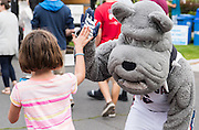 GU students, faculty, and staff with neighbors at the 2nd annual Logan Block Party Sept. 1. (Photo by Edward Bell)