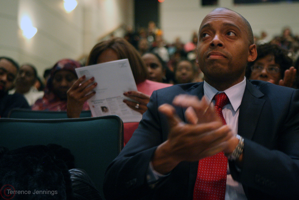 6 January 2011- Harlem, New York- Dr. Khalil Gibran Muhammad at the Opening for The State of African American and African Diaspora Studies Conference held at the The Schomburg Center for Research in Black Culture on January 6, 2011 in the Village of Harlem. Photo Credit Terrence Jennings