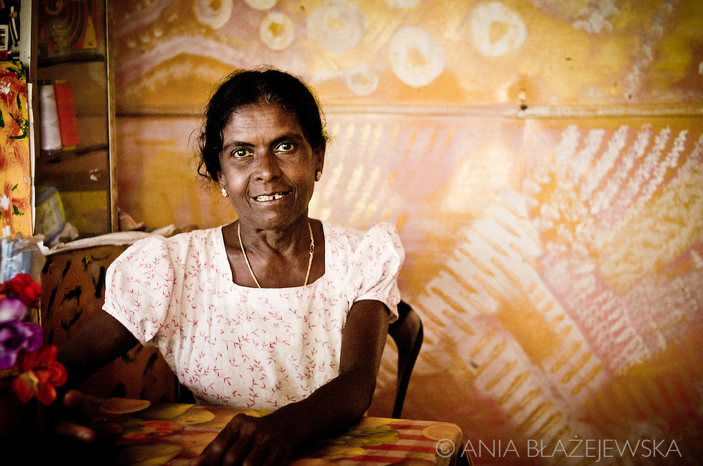 Sri Lanka, Ella. Portrait of a woman - owner a small family restaurant with the best sandwiches in Ella.