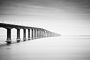 The Confederation Bridge is the longest bridge in the world over ice-covered waters. It spans the Abegweit Passage and links PEI to New Brunswick