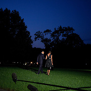 U.S. President Barack Obama and First Lady Michelle Obama depart for New York from the South Lawn of the White House in Washington, DC, on Sunday, Sept. 11, 2011. Photographer: Joshua Roberts/SIPA