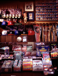 sport sporting goods trading cards, store, dealer.