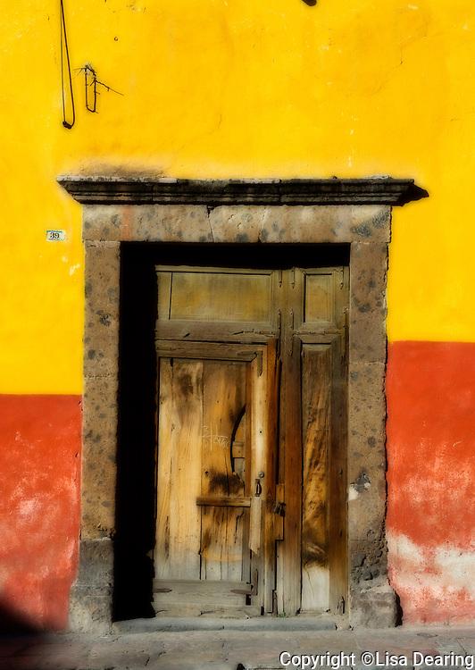 Wood Door, Guanajuato, Mexico