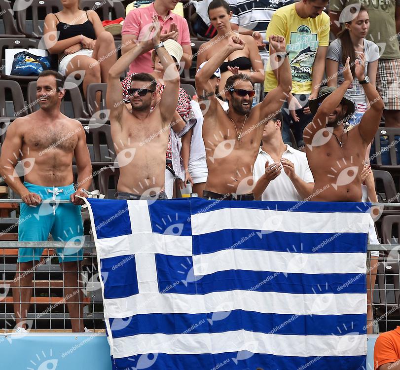 Greece supporters <br /> Croatia - Greece Final 5-6th<br /> LEN European Water Polo Championships 2014<br /> Alfred Hajos Swimming Complex<br /> Margitsziget - Margaret Island<br /> Day13 - July 26<br /> Photo A.Staccioli/Insidefoto/Deepbluemedia