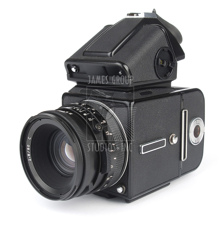 medium format camera shot from an isomorphic view