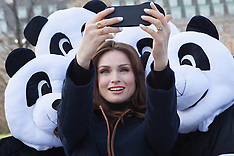 MAR 29 2014 Sophie Ellis-Bextor unveils giant light switch on for Earth Hour