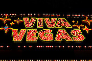 Viva Vegas Neon Sign at Fremont Street Experience, Las Vegas, Nevada