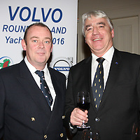 Mark McGibney Sailing Services Manager Royal Irish YC, Paul Sherry Vice-Commodore Royal Irish Yacht Club  at the launch of 18th Volvo 2016 Round Ireland Yacht Race which was held in the Royal Irish Yacht Club.<br />