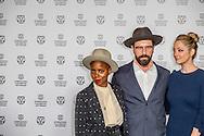 ROTTERDAM - filmfestival opening rode loper en opening van de film lemon  actrice Judy Greer en regisseur Janica Bravo en Brett Gelman ROBIN UTRECHT