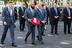 2015-08-28 Rugby League pays tribute to war dead at Cenotaph ahead of final