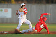 Lafayette High's Josh Mills (9) starts a triple play vs. Center Hill in high school baseball action in Oxford, Miss. on Tuesday, April 5, 2011. Lafayette High won 3-2.