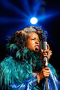 Kelis performs live on The Terrazza Stage during day three of the Lovebox festival at Victoria Park on July 21, 2013 in London, England.  (Photo by Simone Joyner)