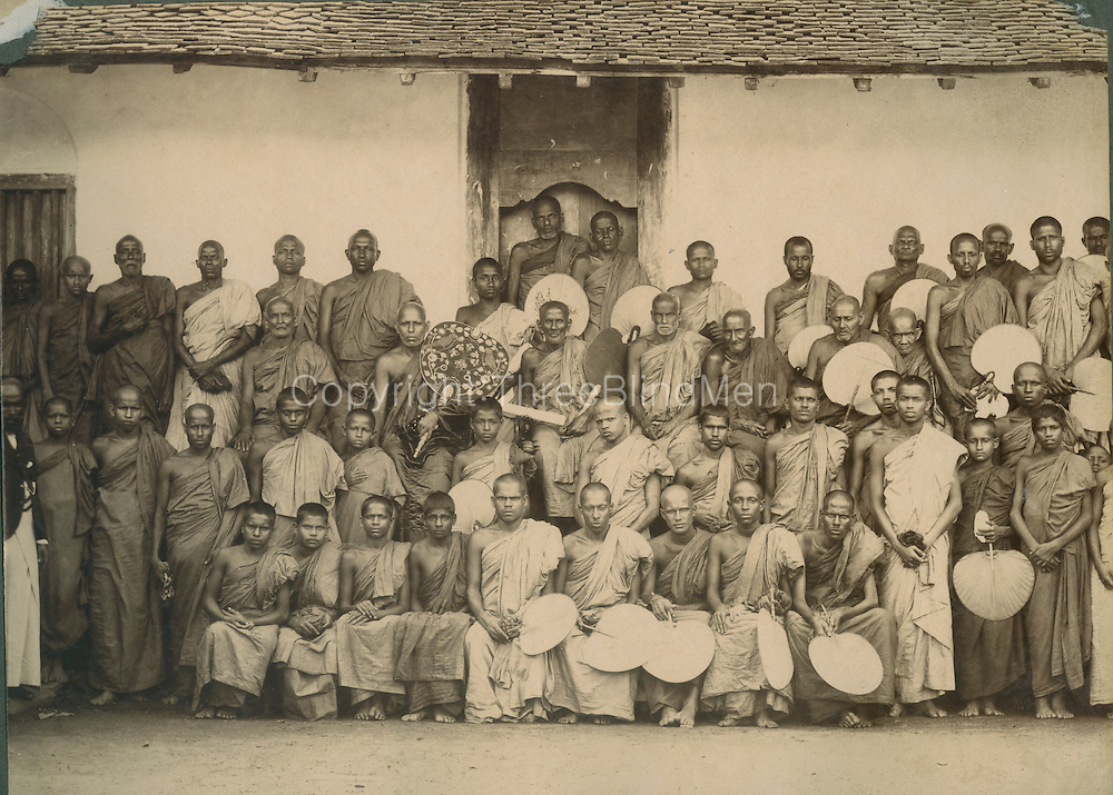 Buddhist Clergy.<br /> Photograph by Skeen.