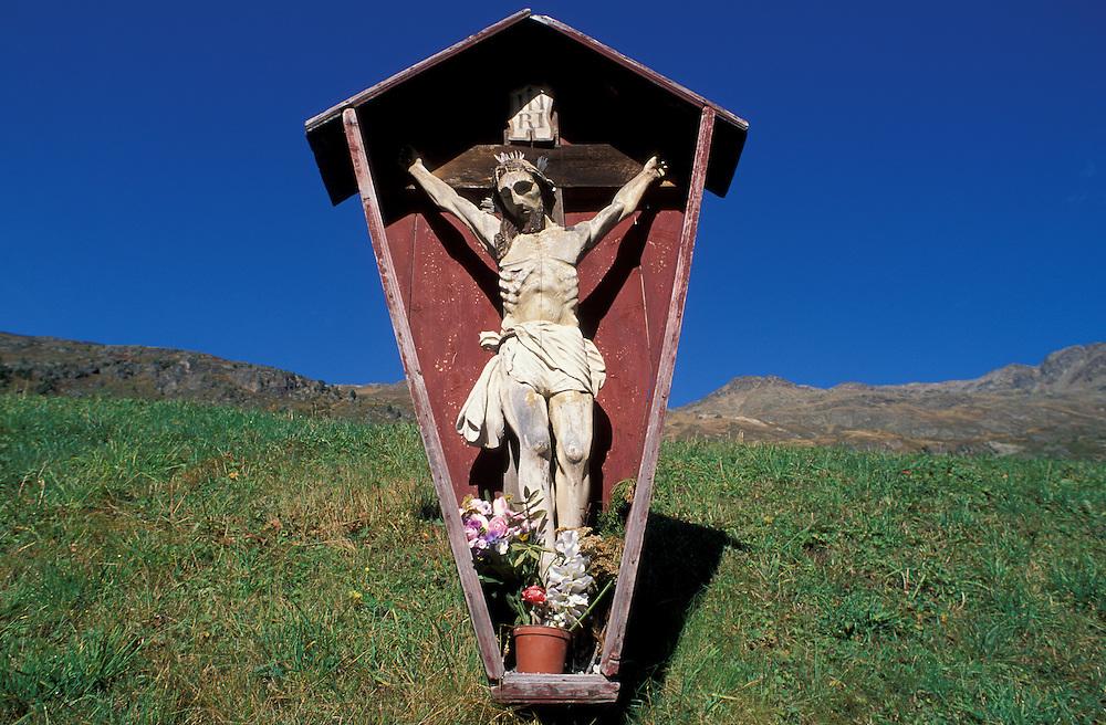 Shrine, Wegkreuz, near Vent, Venter Tal, Tirol, Austria