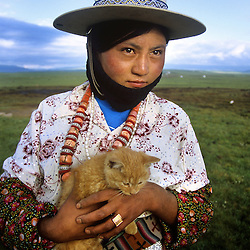 Nomadic herders in Tibet prepare to move to a new location.