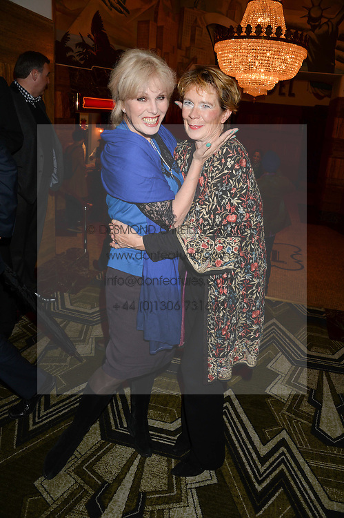 Left to right, JOANNA LUMLEY and CELIA IMRIE at a first night of Celia Imrie's show Laughing Matters held at The Crazy Coqs, Brasserie Zedel, 20 Sherwood Street, Piccadilly, London on 17th September 2013.