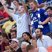 Everton fans celebrate in the 16th minute after Bilyaletdinov scores the second game goal of the match during MLS International friendly match between Everton FC of England and DC United. ..Everton FC Defeated DC United 3-1 Saturday, July 23, 2011, at  RFK Stadium in Washington DC.