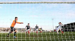 Dumbarton's Bryan Prunty misses..Dumbarton 0 v 2 Falkirk, 23/2/2013..©Michael Schofield.