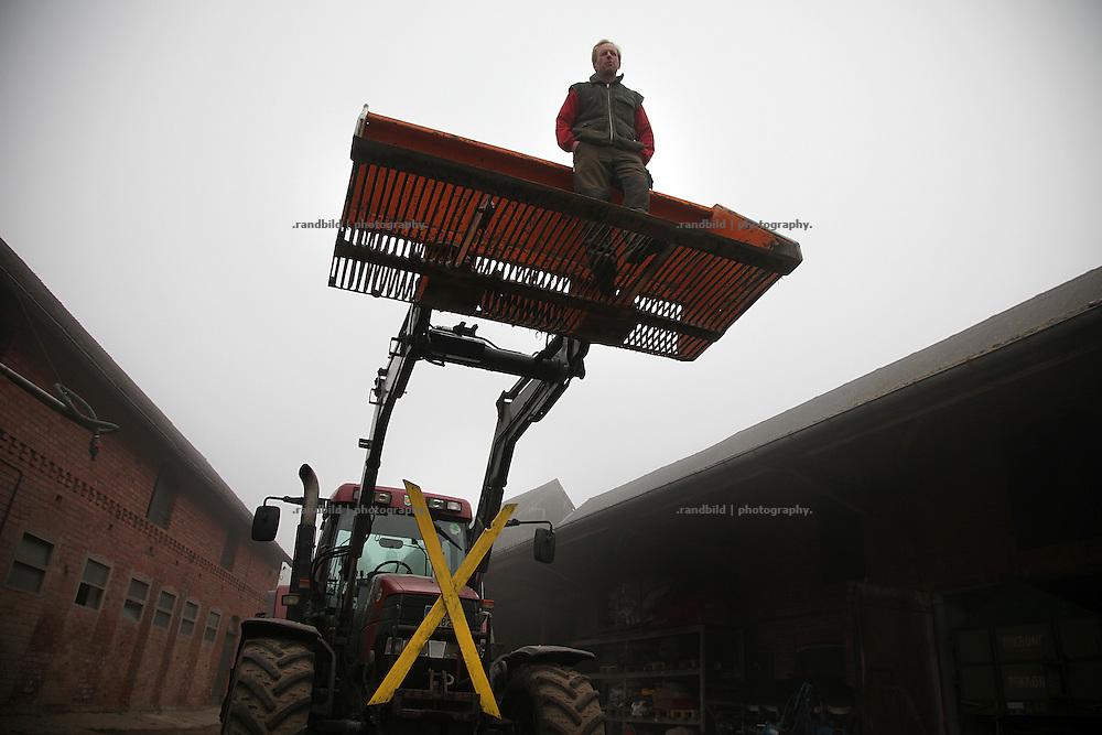 Biobauer Christoph Schäfer aus Güstritz ist aktive in der Bäuerlichen Notgemeinschaft und sein Betrieb wird zu den Protesten mit einigen Schleppern rausfahren.