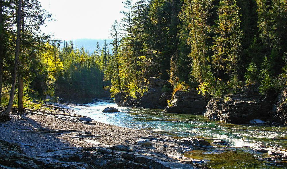 McDonald River, along Going To The Sun Road, Montana.