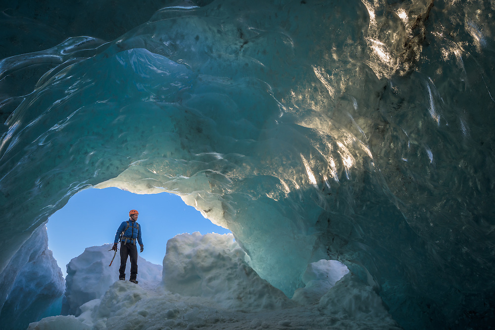 Einar, Crystal Cave, Vatnajokull, Iceland