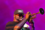 The Hot 8 Brass Band from New Orleans performing at Womadelaide 2017 Music Festival held between 10 - 13 March 2017 in Adelaide, South Australia