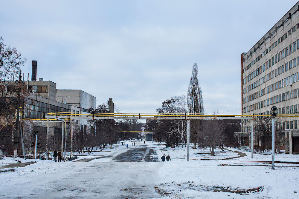 The Malyshev Tank Factory on Wednesday, February 11, 2015 in Kharkiv, Ukraine.