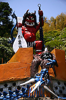 """Kamado Jigoku or the  """"cooking pot hell"""" features several boiling ponds and a fierce or is that kitsch demon statue as cook."""
