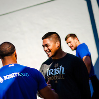 2/18/13 10:41:33 AM -- Bradenton, FL, U.S.A. -- NFL prospect and Notre Dame linebacker Manti Te'o works out at IMG Academy in Bradenton, Fla., in preparation for this year's NFL Combine.  -- ...Photo by Chip J Litherland, Freelance