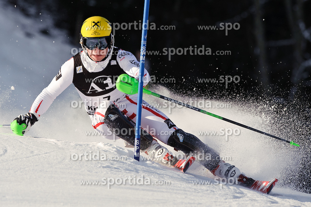 23.01.2011, Hahnenkamm, Kitzbuehel, AUT, FIS World Cup Ski Alpin, Men, Slalom, im Bild // Marcel Hirscher (AUT) // during the men slalom race at the FIS Alpine skiing World cup in Kitzbuehel, EXPA Pictures © 2011, PhotoCredit: EXPA/ S. Zangrando
