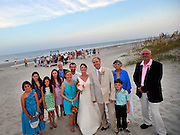 The wedding of Robert and Heather, Friday, July 27, 2012 on the eleventh street crossover beach, and reception to follow at the old guard house on Tybee Island, Georgia. (Photo/Stephen Morton).