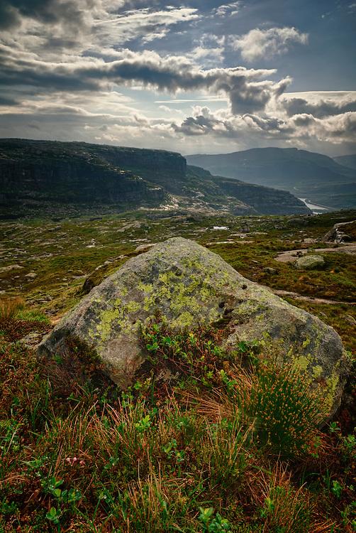 View towards Sirdalen, Vest Agder, Norway.