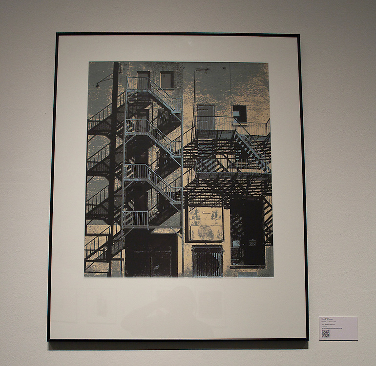 Gerd Winner   <br /> German (Braunschweig, 1936)<br /> &ldquo;New York Warehouse&rdquo;<br /> screenprint<br /> <br /> Gerd Winner studied painting at the Academy of Fine Arts in Berlin.  He is a freelance artist and illustrator and a professor of painting and printmaking in Munich.  His photorealist screenprints done with Chris Prater at Kelpra Studio in London, are close observations of buildings in various cities of the world.  <br /> <br /> http://www.memphis.edu/amum/exhibitions/gerd.winner.php