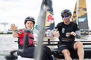 The Extreme Sailing Series 2016. Act 4. Hamburg. Germany. 31st July 2016.(Photo by Lloyd Images)