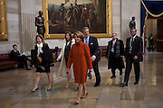 Speaker of the House Nancy Pelosi walks through the US Capitol Rotunda before the presidential inauguration, January 21, 2013.