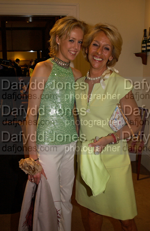Lady Alexandra Spencer-Churchill and her mother the Duchess of Marlborough, Sothebys's Summer party, 7 June 2004. ONE TIME USE ONLY - DO NOT ARCHIVE  © Copyright Photograph by Dafydd Jones 66 Stockwell Park Rd. London SW9 0DA Tel 020 7733 0108 www.dafjones.com