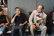 17 September 2010-New York, NY- l to r: Actress Nia Long, Actor Evan Ross, and Roger Guenveur Smith at the press conference to announce the release of  ' Moozlum the Movie ' held at the Dolby Studios on September 17, 2010 in New York City. ..**exclusive**