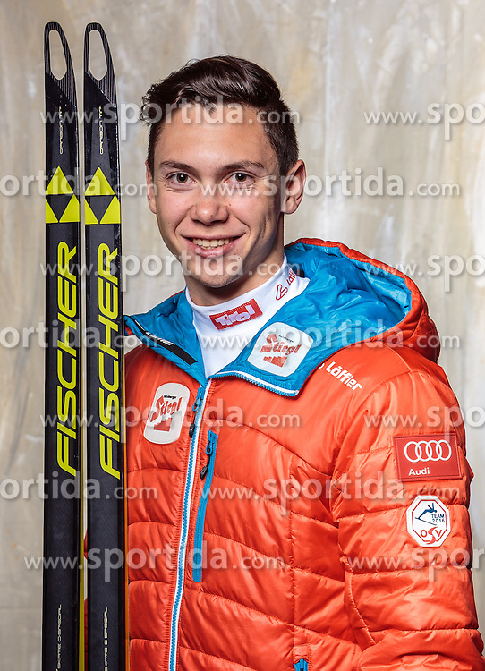 08.10.2016, Olympia Eisstadion, Innsbruck, AUT, OeSV Einkleidung Winterkollektion, Portraits 2016, im Bild Daniel Neudorfer, Nordische Kombination, Herren // during the Outfitting of the Ski Austria Winter Collection and official Portrait Photoshooting at the Olympia Eisstadion in Innsbruck, Austria on 2016/10/08. EXPA Pictures © 2016, PhotoCredit: EXPA/ JFK