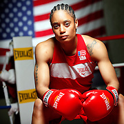 SHOT 6/24/11 2:41:42 PM - A portrait of U.S. Olympic lightweight boxer Queen Underwood, 27, of Seattle, Wash. who will be competing for her fifth title. She began boxing in 2003 and was the 2009 Continental Champion and the 2010 USA Boxing National Champion. She is considered a likely favorite to medal at the 2012 Summer Olympics in London as women's boxing makes its debut as an Olympic sport. (Photo by Marc Piscotty /  © 2011)