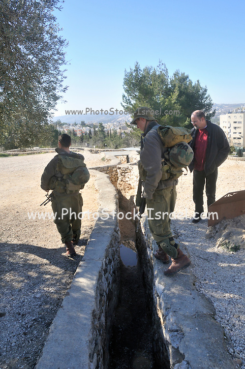 Israel, Jerusalem Jordanian trenches, The Ammunition hill (Hebrew: Giv'at HaTachmoshet) was a military post in Jordanian controlled East Jerusalem, and was the site of one of the toughest battles during the Six Day War on June 6th 1967 now a national memorial site