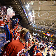 Gonzaga Men's Basketball win their last home game of the season against Portland in order to remain undefeated in the WCC and move closer to the number one ranking. Photo by Rajah Bose