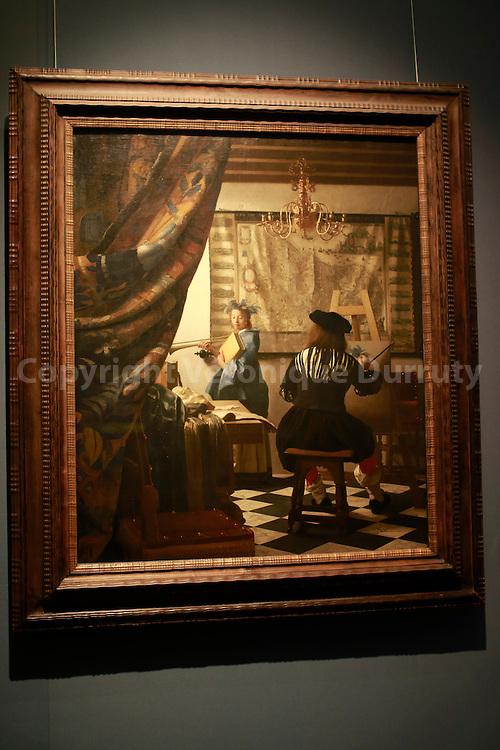 Paintings gallery, Kunsthistorisches Museum, Vienna, Austria , Vermeer, the art of Painting// Galerie de peinture du Kunsthistorisches Museum, Vienne, Autriche, Vermeer, l'art de la peinture