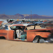 Rusted 1956 Chevy Classic - Pearsonville, CA - Lensbaby