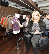 Celebrity style expert Jess Zaino with Ramona Singer, cast member of Bravo network's Real Housewives of New York City, touring the Nolcha Fashion Lounge..Nolcha supports the growth of ethical fashion and celebrate independent fashion brands who hold to sustainable, organic and eco-friendly fashion standards.  Nolcha is an award-winning leading global platform advancing the business of independent fashion designers and retailers via social e-commerce, fashion week events and an educational video portal.