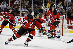 Feb 20, 2007; East Rutherford, NJ, USA; New Jersey Devils forward Scott Gomez (23) moves forward during the third period at Continental Airlines Arena in East Rutherford, NJ.