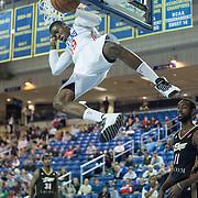 Delaware 87ers Forward Thanasis Antetokounmpo (19) dunks in the first half of a NBA D-league regular season basketball game between Delaware 87ers (76ers) and the Erie BayHawks (Knicks) Friday, Jan. 3, 2014 at The Bob Carpenter Sports Convocation Center, Newark, DE