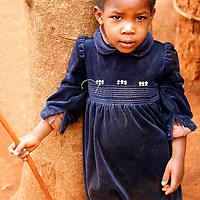 Africa, Tanzania, Karratu. Iraqw child in Tanzania.
